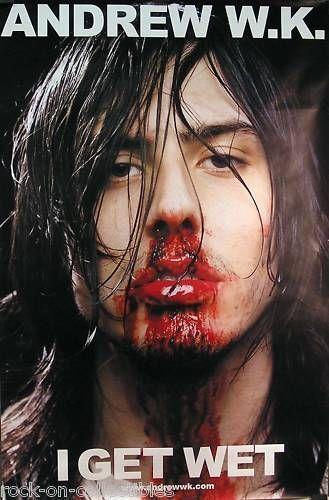 Andrew WK 2001 I Get Wet Original Jumbo Promo Poster