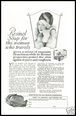 1928 vintage ad for Resinol Woman's Soap