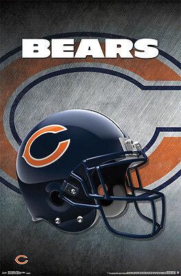 CHICAGO BEARS Official Team Logo Helmet Design NFL WALL POSTER