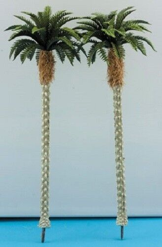 Dollhouse Miniature Tropical Palm Trees -- 2 Pieces