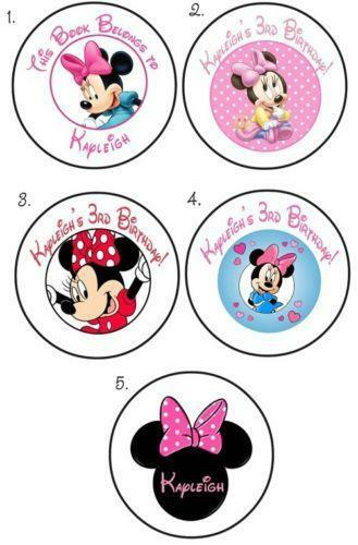 Minnie Mouse Personalized Stickers Ebay