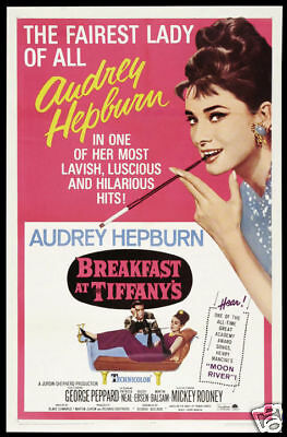 Breakfast at Tiffany's Audrey Hepburn movie poster (Breakfast Tiffanys Movie Poster)