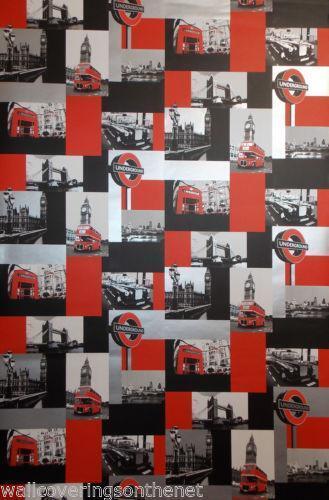 London Theme Wallpaper Ebay