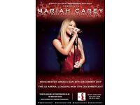 MARIAH CAREY CONCERT TICKET 02 ARENA 11TH DEC 2017