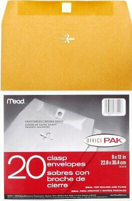 Mead Clasp Envelopes Mailing Envelopes 9 X 12 Manila Envelopes With Clasp