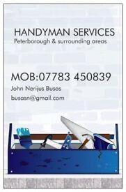 General Handyman Services Peterborough & surrounding areas.Call 07783 450839.Nerijus
