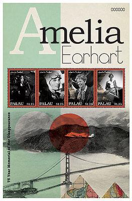 Palau - Amelia Earhart Stamp - Sheet of 4 MNH