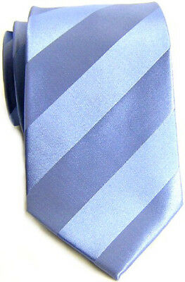 (New Boardroom Sky Blue Solid Tonal Striped 100% Silk Tie (BRT905) - Retail $45)