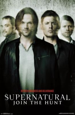 Supernatural Art Wall Poster 22.375' X 34' w/ Sticky Tack (Poster Sticky Tack)