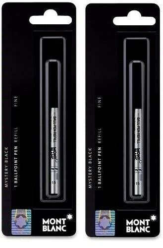 Genuine Montblanc Ballpoint Pen Refills, Black or Blue, Sealed Packs, 2 Packs Collectibles