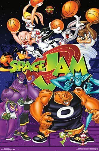 space jam collage wall poster 22 375