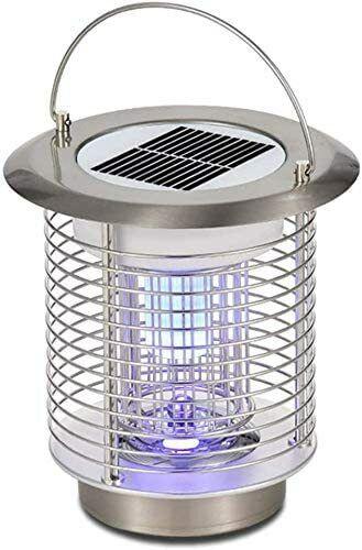 Solar Powered Mosquito Killer Lamp 1.2W LED Waterproof Bug Zapper Lantern