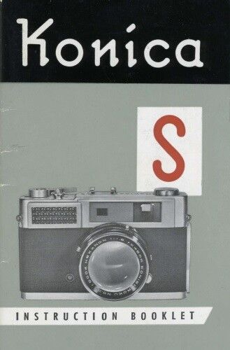 Konica S Rangefinder Camera Instruction Manual 1960