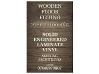 WOODEN FLOOR FITTING , SKIRTING & ARCHITRAVES , PAINT & DECORATE