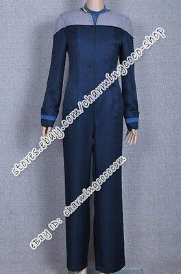 Star Trek Next Generation Halloween Costume (Star Trek  The Next Generation Deanna Troi Cosplay Costume Jumpsuit Halloween)