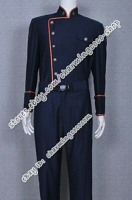 Battlestar Galactica Cosplay Costume William Adama Uniform mit roter - Battlestar Galactica Uniform Kostüm