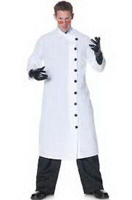 Mad Scientist Nehru Collar Side Button Costume Coat XL (Mad Scientist Lab Coat)