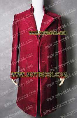 Charlie and the Chocolate Factory Johnny Depp Willy Wonka Coat Costume Red Suit](Johnny Depp Willy Wonka Costume)