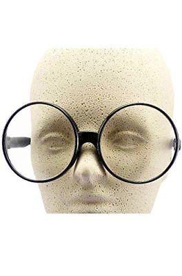 Big Round Eyeglasses Clear Lenses Adult Teen - 2 Color Frame (Eyeglasses Lens Options)