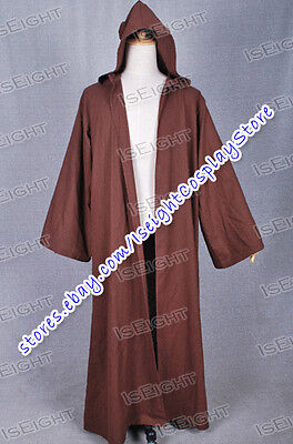 Star Wars Cloak Brown Robe Cape for Jedi Obi-Wan Kenobi Obi Wan Halloween Best