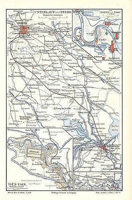Unterlauf des Pei - Ho Tien -Tsin China Ta - Ku 1901