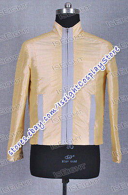 Star Wars A New Hope Cosplay Luke Skywalker Costume Yellow Jacket Halloween Cool