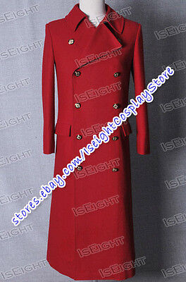 Who Purchase The Fourth Doctor Dr 4th Red Wool Movie Trench Coat Cosplay Costume](Purchase Cosplay Costumes)