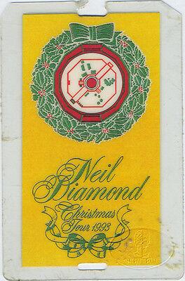 NEIL DIAMOND 1993 Christmas Tour Laminated Backstage Pass