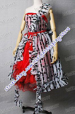 Tim Burton Alice In Wonderland Cosplay Alice  Costume Red Court Dress In Stock - Alice In Wonderland Tim Burton Dress