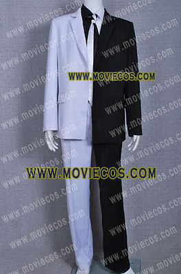 Two Face Suit (Costume Two Face Man Cosplay Suit White And Black Two Face Uniform)
