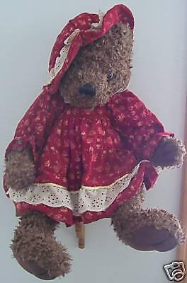 Vintage Dan Dee Collector's Choice Plush Girly Teddy Bear Doll with Dress RARE