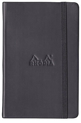 Rhodia Boutique Webnotebook Bound 5 12 X 8 14 Dot Grid Black 96 Sheets