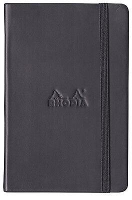 Rhodia Boutique Webnotebook Bound 5 12 X 8 14 Dot Grid Black 96 Sheets