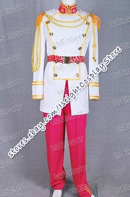 Cinderella Prince Charming Cosplay Costume Outfits Best Jacket Pants Belt Outfit