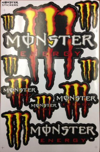 monster energy drink stickers ebay. Black Bedroom Furniture Sets. Home Design Ideas