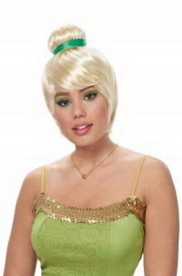 Tinkerbell Wig Blonde Short Top Bun Synthetic Hair Costume Character Wig