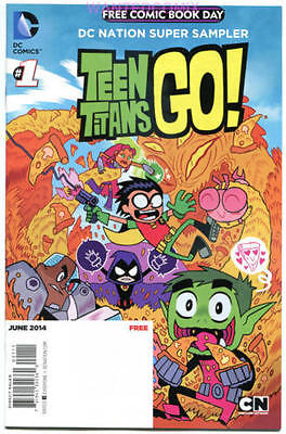 FCBD 2014 TEEN TITANS GO #1FREE COMIC BOOK DAY 2014 DC COMIC BOOK NEW TV SHOW