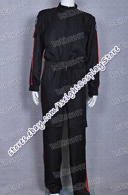 Star Wars Costume Imperial Tie Fighter Pilot Flightsuit Black Jumpsuit Halloween](Tie Fighter Halloween Costume)