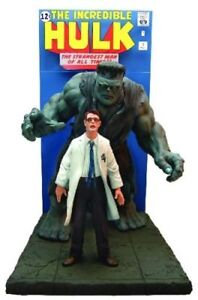 THE INCREDIBLE HULK  3D STATUE COMIC BOOK COVER SCENE REPLICA