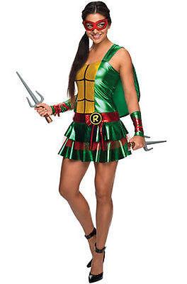 Erwachsene Damen Raphael Tmnt Mutant Ninja Turtles Cosplay Kostüm Kleid Rock