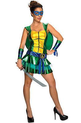 Erwachsene Damen Leonardo Tmnt Mutant Ninja Turtles Comic Verkleidung Rock