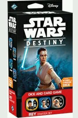 Rey Starter Set Star Wars Destiny Awakening CCG FFG In Hand