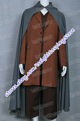 The Lord of the Rings Frodo Baggins Cosplay Costume Cape Coat Full Set - Frodo Halloween Costume
