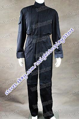 Star Wars Imperial Tie Fighter Pilot Black Flightsuit Uniform Jumpsuit Halloween](Tie Fighter Halloween Costume)