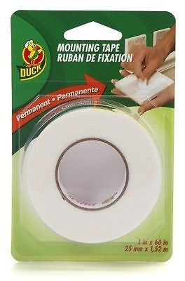 Double Sided Permanent Foam Mounting Tape Duck Brand 1 in x 60 (Duck Brand Double Sided Foam Mounting Tape)