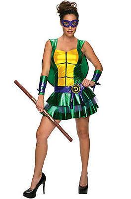 Erwachsene Damen Donatello Tmnt Mutant Ninja Turtles Comic Verkleidung Rock