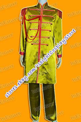 The Beatles Cosplay Sgt Pepper John Winston Lennon Yellow Costume Halloween New