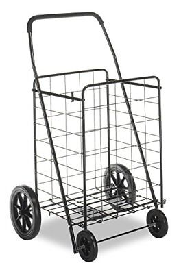 Jumbo Portable Shopping Grocery Cart Folding Laundry Rolling Bag Basket Utility