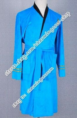 Star Trek TOS Cosplay Costume Blue Uniform Bath Robe High Quality Halloween Cool - High Quality Star Trek Uniform