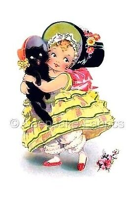 Southern Belle & Black Cat Quilt Block Multi Sizes FrEE ShiPPinG WoRld WiDE - Black Southern Belle